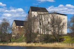 Oud kasteel Kastelholm stock foto's