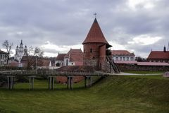 Oud Kasteel Kaunas Stock Afbeelding