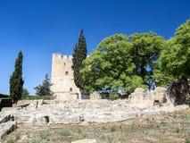 Oud kasteel Kolosi dichtbij Limassol, Cyprus stock afbeeldingen
