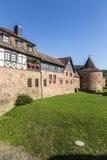 Oud kasteel in middeleeuwse stad van Buedingen Stock Fotografie