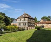 Oud kasteel in middeleeuwse stad van Buedingen Royalty-vrije Stock Afbeelding