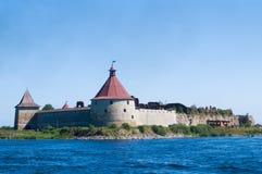 Oud kasteel op het eiland Royalty-vrije Stock Afbeelding