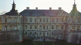 Oud Kasteel Pidhirtsi Architecturale elementen van een oud kasteel ukraine stock footage