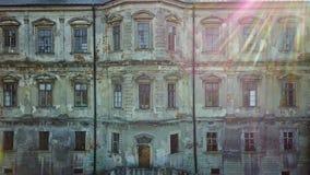 Oud Kasteel Pidhirtsi Architecturale elementen van een oud kasteel ukraine stock videobeelden