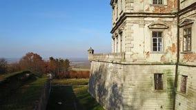 Oud Kasteel Pidhirtsi ukraine Architecturale elementen van een oud kasteel stock footage