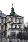 Oud kasteel Podgoretskykasteel Elementen van de architectuur van het oude kasteel Stock Afbeeldingen