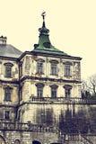 Oud kasteel Podgoretskykasteel Elementen van de architectuur van het oude kasteel Royalty-vrije Stock Fotografie