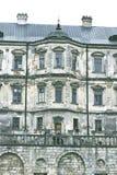 Oud kasteel Podgoretskykasteel Elementen van de architectuur van het oude kasteel Stock Fotografie