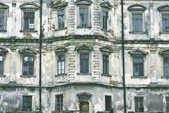 Oud kasteel Podgoretskykasteel Elementen van de architectuur van het oude kasteel Stock Afbeelding