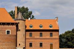 Oud kasteel in Polen Stock Fotografie