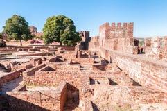 Oud kasteel in Silves Royalty-vrije Stock Foto's