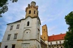 Oud kasteel, stad Breclav, Tsjechische Republiek, Europa stock fotografie