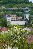 Oud kasteel in Stiavnica Stock Fotografie