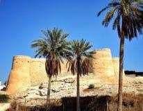 Oud kasteel in Tarout-eiland Stock Foto
