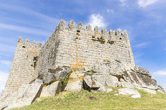 Oud kasteel in Trancoso-stad Royalty-vrije Stock Afbeeldingen