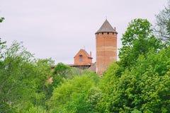 Oud kasteel in Turaida, Letland royalty-vrije stock afbeelding