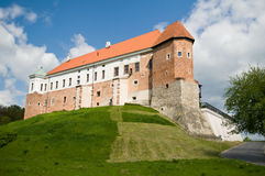 Oud kasteel van 14de eeuw in Sandomierz, Polen Royalty-vrije Stock Fotografie