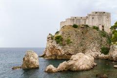 Oud Kasteel van Lovrijenac in Dubrovnik Stock Foto
