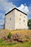 Oud Kastelholm-Kasteel op heuvel stock foto's