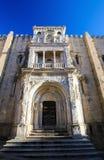 Oud Kathedraal of Se Velha van Coimbra, Portugal Royalty-vrije Stock Afbeeldingen