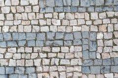 Oud keipatroon, steen geweven achtergrond, de stenen van het grijze en pinkgraniet royalty-vrije stock foto's