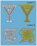 Oud Keltisch alfabet Royalty-vrije Stock Foto