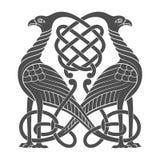 Oud Keltisch mythologisch symbool van vogel royalty-vrije illustratie