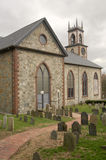 Oud Kerk en Kerkhof Stock Foto's