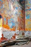 Oud kerkbinnenland Royalty-vrije Stock Foto's