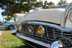 Oud klassiek Amerikaans autodetail royalty-vrije stock foto's