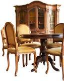Oud klassiek houten meubilair met met de hand gemaakte woodcar Stock Foto's