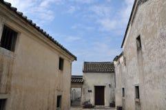 Oud klein dorp in Zuidelijk China Stock Foto