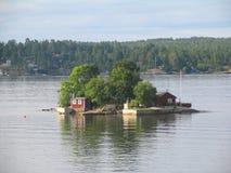 Oud klein eiland royalty-vrije stock afbeelding