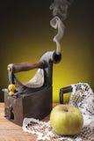 Oud klerenijzer stock afbeelding