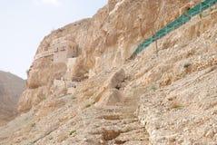 Oud klooster in Jericho stock foto