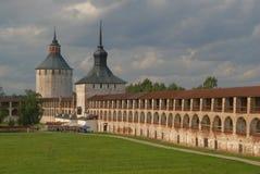 Oud klooster in Kirillov Royalty-vrije Stock Foto