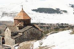 Oud klooster Sevanavank in Armenië Stock Foto's