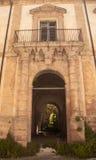 Oud klooster in sicilu Stock Foto's