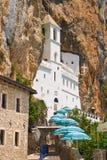 Het klooster van Ostrog in Montenegro Stock Foto's