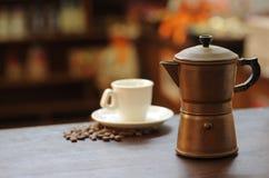 Oud koffiezetapparaat Royalty-vrije Stock Foto