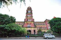 Oud koloniaal paleis, Yangon, Myanmar Stock Foto's