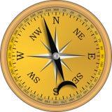 Oud kompas Royalty-vrije Stock Afbeeldingen