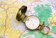 Oud kompas Stock Foto's