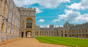 Oud koninklijk paleis, Windsor-steenkasteel Royalty-vrije Stock Foto