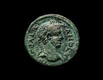 Oud koper roman muntstuk van keizer Alexander Royalty-vrije Stock Foto