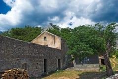 Oud Kroatisch huis Stock Foto