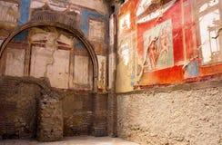 Oud kunst-Herculaneum-v-Italië Stock Foto's