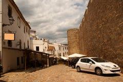 Oud kwart Tossa DE Mar, Catalonië Stock Foto's