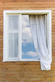 Oud land-stijl venster Royalty-vrije Stock Afbeelding