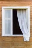 Oud land-stijl venster stock foto's